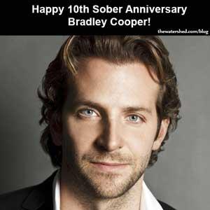 Bradley Cooper Celebrates Ten Years Sober