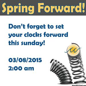 daylight savings time change 2015